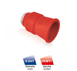 NH35 NOZZLE HOLDER OUTLET 1/8 NPT F RED
