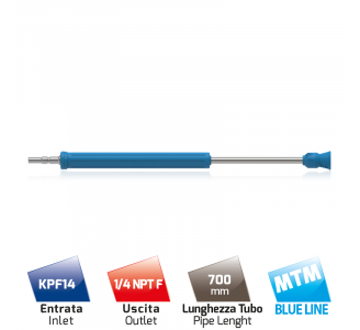 RLF14 SINGLE STRAIGHT LANCE WITH KPF14 AND NPF45 NOZZLE PROTECTOR (PIPE LENGHT 700 mm)
