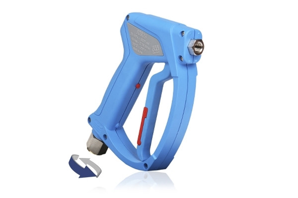 SGS35 LIGHT BLUE SWIVEL INLET WASH GUN