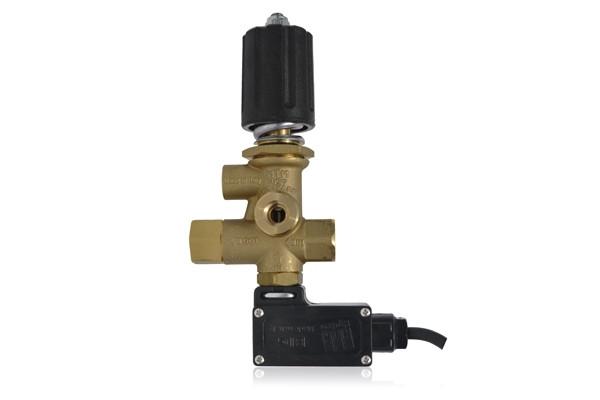 MG4000 PRESSURE REGULATING UNLOADER VALVE WITH PRESSURE PORT, MICROSWITCH AND KNOB