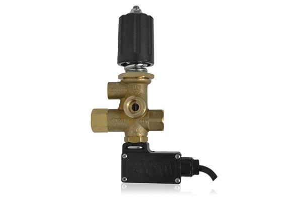 BP9 PRESSURE REGULATING UNLOADER VALVE WITH PRESSURE PORT, MICROSWITCH AND KNOB