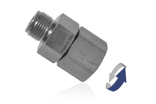AGS45 STRAIGHT SWIVEL COUPLING