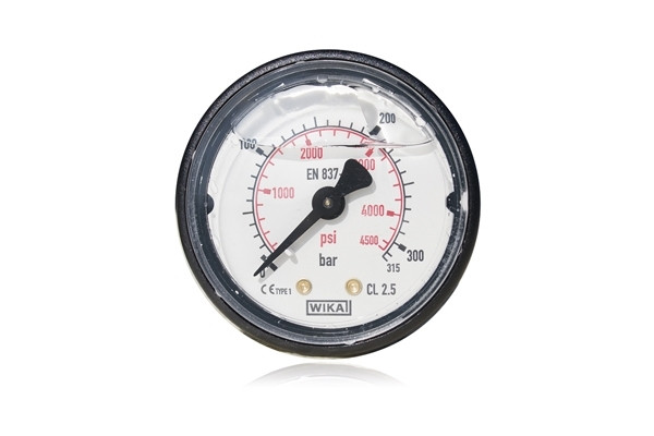 REAR CONNECTION GAUGE WITH GLYCERINE