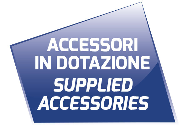 SUPPLIED ACCESSORIES