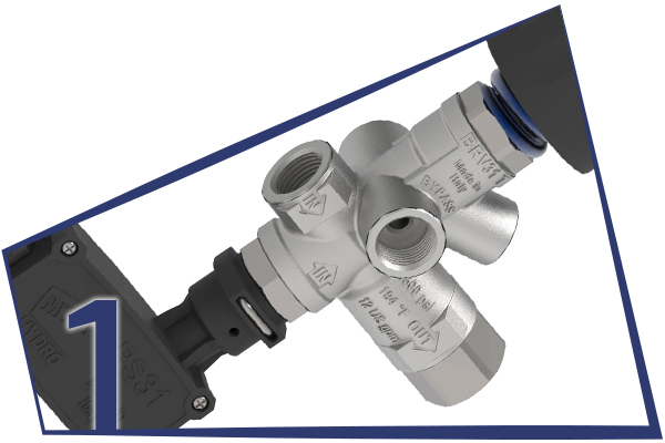 1. BYPASS UNLOADER VALVES WITH MICROSWITCH