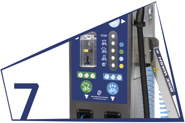 BKW MULTIFUNCTION COLUMN FOR BICYCLE WASHING