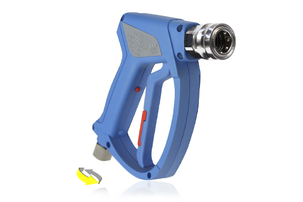SGS35 LIGHT BLUE SWIVEL INLET WASH GUN WITH BCS45 QUICK RELEASE COUPLING