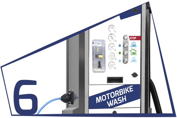 MBW MULTIFUNCTION COLUMN FOR MOTORCYCLE CLEANING