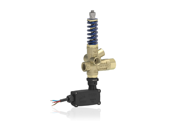 BRV31 T PRESSURE REGULATING UNLOADER VALVE WITH PRESSURE PORT AND MICROSWITCH WITHOUT KNOB