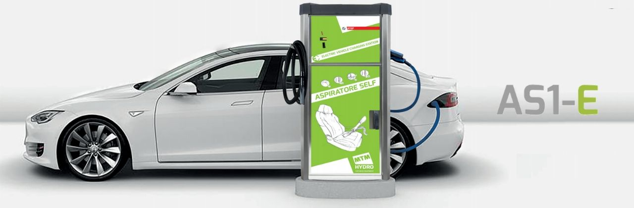 AS1-E SELF VACUUM CLEANER WITH INTEGRATED ELECTRIC CAR CHARGER